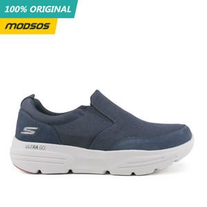 Sepatu Slip On Pria Skechers Go Walk Relaxed Fit Navy Original