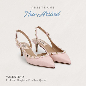 Sepatu wanita original | VALENTINO ROCKSTUD SLINGBACK 60 ROSE QUARTS