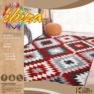 [Karpet Direct] Ibiza Karpet (Merah) 167x225 cm - Kode 45-4613