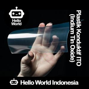 Plastik Konduktif Indium Tin Oxide (ITO) 20cm x 10cm