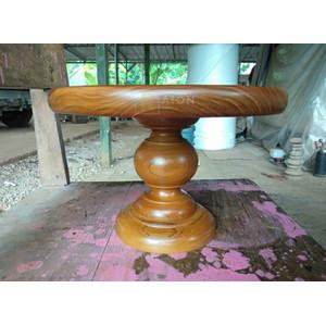 RAION Wooden Cake Stand / Tatakan Kue / Alas Kue Kayu - Coklat Natural