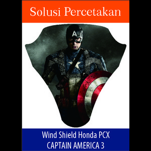 Sticker Windshield | Stiker Visor Decall PCX Spiderman Captain America