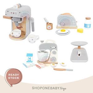 Freni Kitchen Wooden Toy Pretend Toys Set Mainan Anak Dapur Masak Kayu