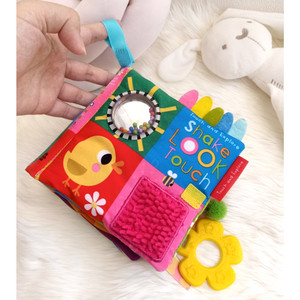 Shake Look Touch Cloth Book (buku kain) with many interactive features