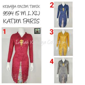 9043 Indah Kebaya Modern Encim Kutubaru Bali Murah Batik Bordir Brokat