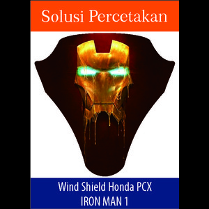 Sticker Windshield | Stiker Visor Decall PCX Iron Man Black Panther