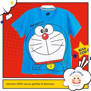 Baju/Kaos Anak Lengan Pendek Motif Doraemon 1 - 10 Tahun
