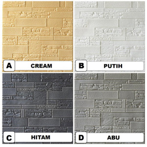 Semua Gratis - Wallpaper Dinding 3D FOAM Wallfoam / Wallpaper Foam