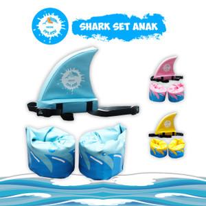 Pelampung Lengan Punggung Shark Fin ANAK Busa KIDDIE SPLASH Paket