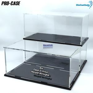 Box Acrylic / Akrilik Display Knockdown Merk Pro-Case - Skala 1:24