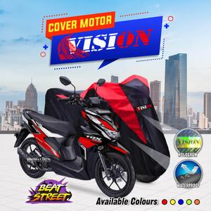Sarung Motor BEAT / Cover Penutup Motor Warna Antiair Merk VISION
