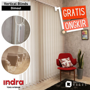 Vertical Blind dimout 80% - kerai kain - termurah !!