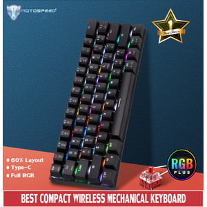 MECHANICAL KEYBOARD MOTOSPEED CK62 WIRED BLUETOOTH DUAL MODE Outemu RS