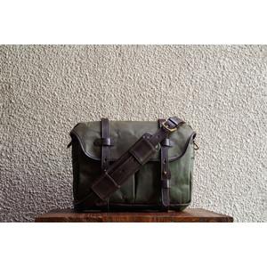 F.C. 13 Olive Waxed Twill Messenger Bag