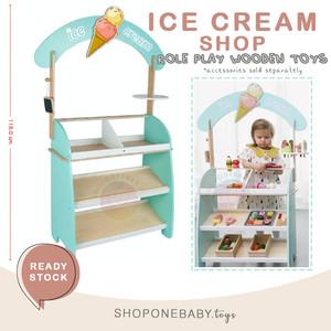 Freni Ice Cream Grocery Shop Booth Wooden Toys Mainan Anak Kayu Jualan