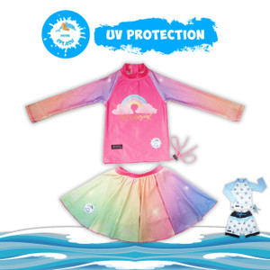 Kiddie Splash Baju Renang UV Protection 50+ (Rok celana)