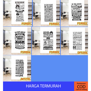 QUOTE (90x60) - Stiker Dinding / Wall Sticker