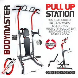 Pull Up Station + Bench   Pullup Dipping Bar Press