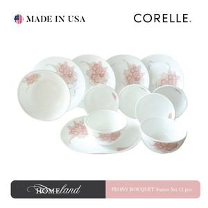 CORELLE Peony Bouquet Starter Set 12Pcs 12B-PNB-LP