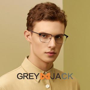 Grey Jack/kacamata anti radiasi blueray dewasa fashion metal 6611