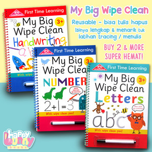My Big Wipe Clean Books HANDWRITING / NUMBER / LETTERS / TIME