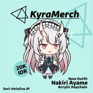Keychain Hololive Japan Nakiri Ayame Alternative Costume