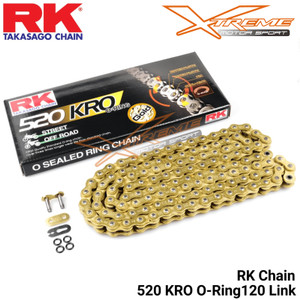 (Ready Stok) Rantai RK Chain 520 - 116 O Ring Ninja 250 Fi / R25/ ER6