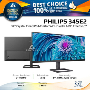 "Monitor LED Philips 345E2 34"" Ultrawide IPS 3440x1440 HDMI DP"