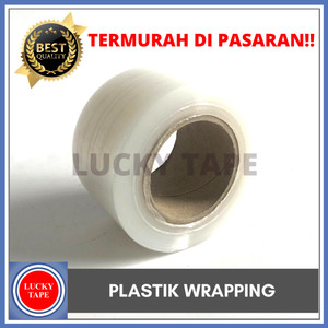 PLASTIC WRAP 5CM x200M PLASTIK WRAPPING PACKINGAN STRETCH FILM STRECH