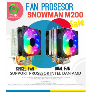 CPU FAN COOLER SNOWMAN M200 LED FOR INTEL DAN AMD
