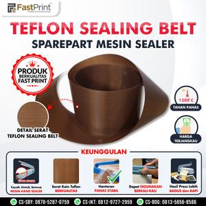 Kertas Teflon Sealing Belt Tahan Panas Sparepart Alat Press Plastik