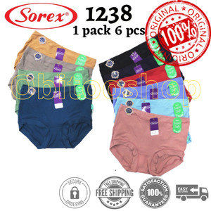 Celana Dalam Wanita SOREX ( type 1238 ) /6pcs | Kolor Perempuan