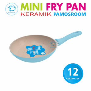 Pamosroom New Mini Frypan 12cm Anti Lengket Mini Wok Pan Teflon Marble