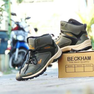 Sepatu Hiking Beckham Paramount Offroad Hijau Hitam Outdoor Outdor