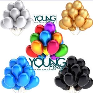 Balon Latex warna/Balon Metalik isi 50 per pack