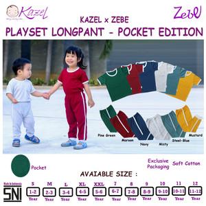 Kazel Playset Longpants Panjang Pocket - Unisex Edition -1-6 Tahun.
