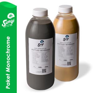 Paket Monochrome : Charcoal Latte 1liter + Kopi Susu Sunyi 1liter