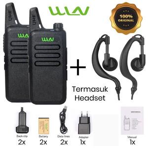 SEPASANG HT Walkie Talkie WLN KD-C1 ORIGINAL (2 PCS NEW)