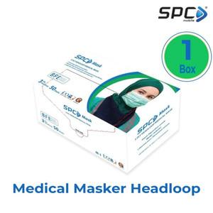 SPC Masker Medis Headloop / hijab - 3 Lapis 3ply setara sensi