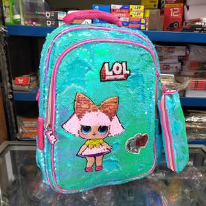 Tas sekolah anak SD import LOL Squin Tempat Pensil 8601