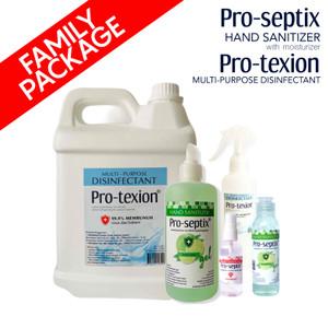 FAMILY PACK Hand Sanitizer Pro-Septix & Desinfektan Pro-Texion