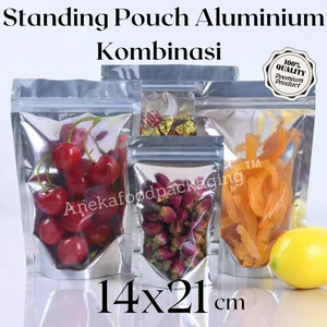 Standing Pouch Transmetz Kombinasi Aluminium Foil Klip uk.14x21cm