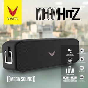 Mega Hitz TWS Bluetooth Speaker-20W+2 BASS, Waterproof, HD, 20 Hours