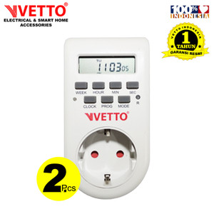 VETTO Paket Timer Digital (2 PCS) - 1 Minggu