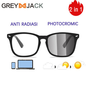 GREY JACK/kacamata anti radiasi blueray photocromic pria/wanita 1516