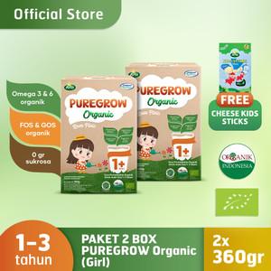Paket 2 Box PUREGROW Organic 360gr Girl Version Free Arla Cheese kids