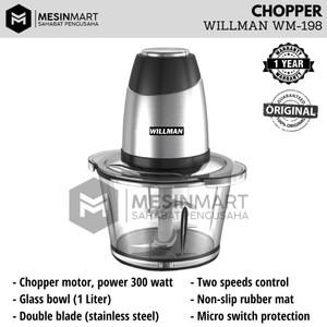 Food Chopper Blender WILLMAN WM-198 Giling Daging Bumbu Rempah Dapur