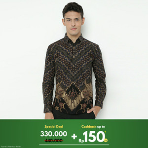 Enzy Batik Shirt Wardhana - Black