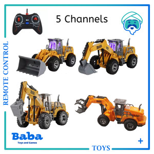 Mainan Remote Control RC Konstruksi Construction Excavator Beko 5CH