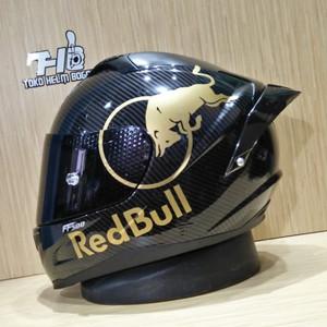 RSV ff500 motuf carbone visor SMOKE stiker redbull GOLD